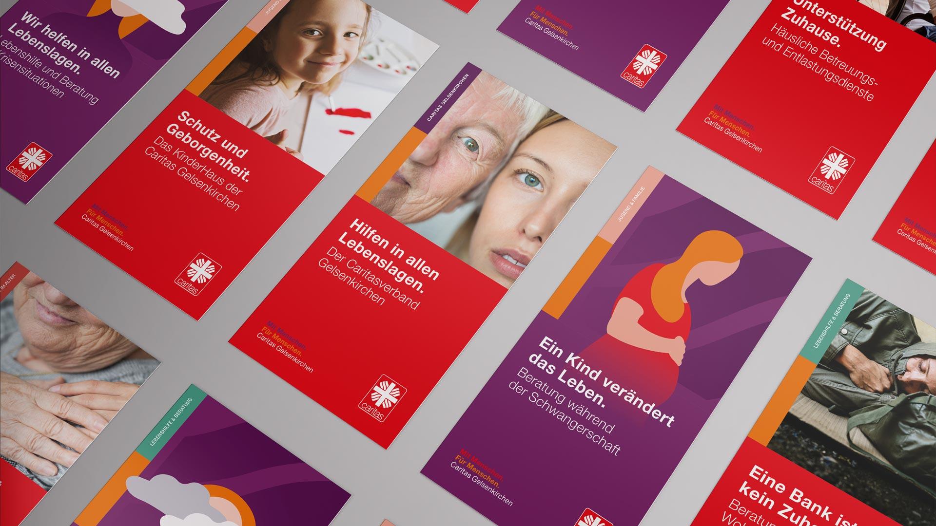 Titelseiten für Flyer im neuen Design