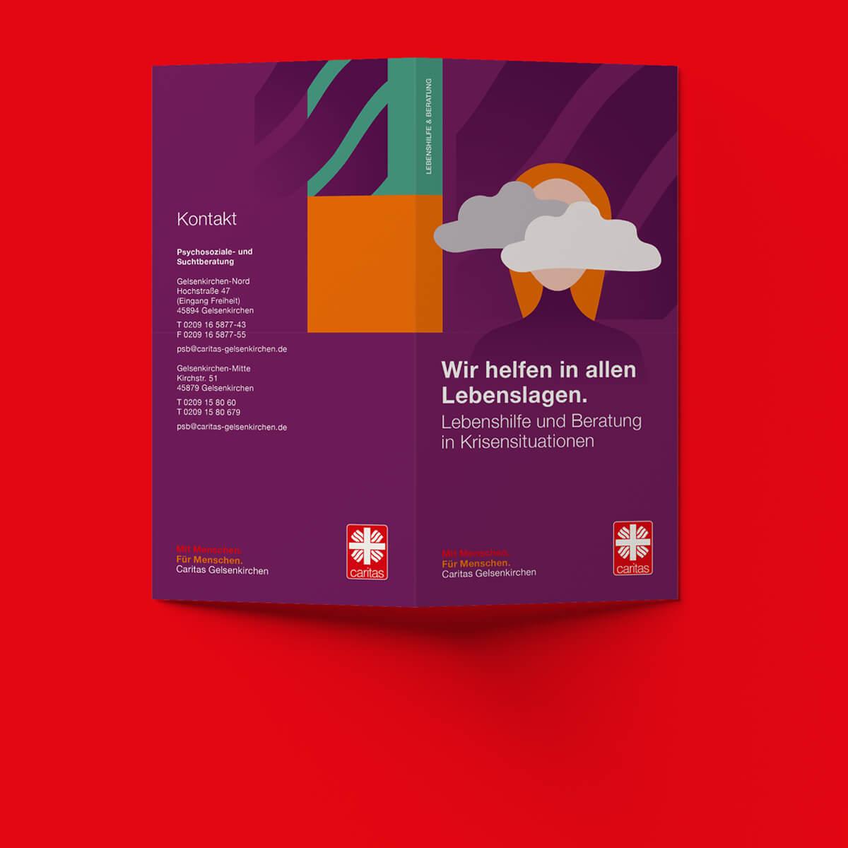 Corporate Design und Jubiläumslogo für den Caritasverband Gelsenkirchen