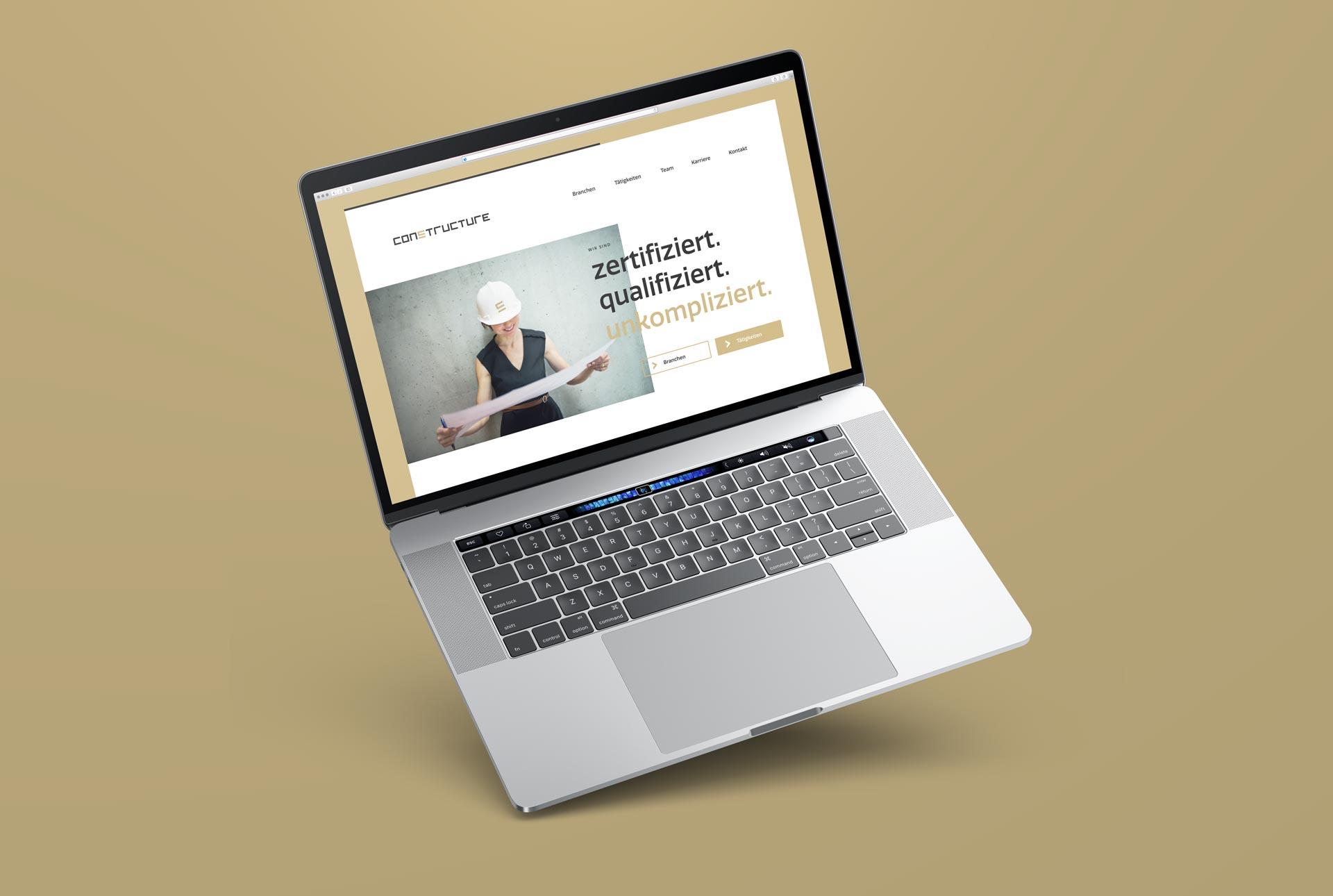 Neuer Webauftritt im neuen Corporate Design für constructure