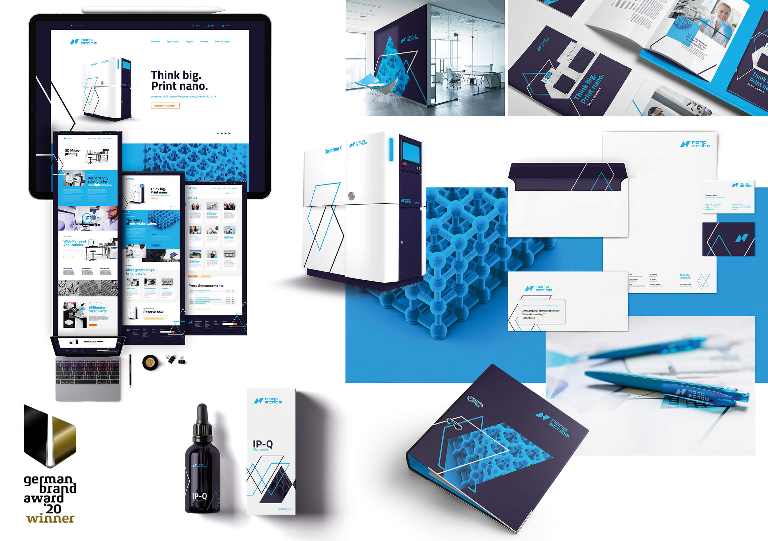 Corporate Design Relaunch für Nanoscribe – German Brand Award Winner '20