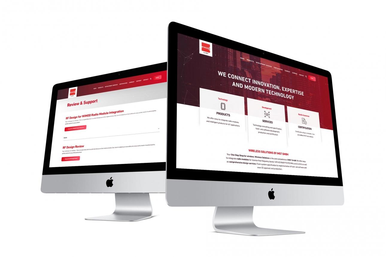 Screendesign Responsives Webdesign für IMST