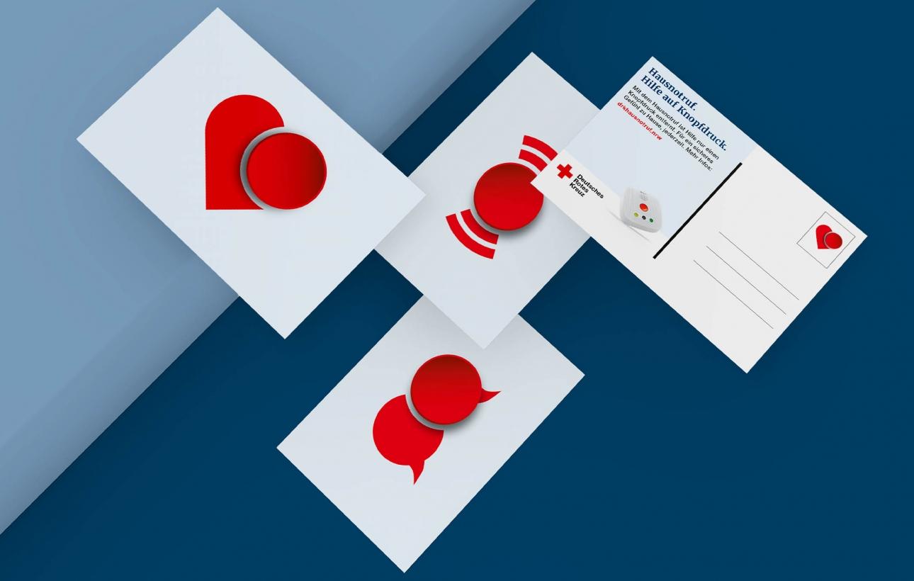 Postkarte im Design Hausnotruf-Kampagne