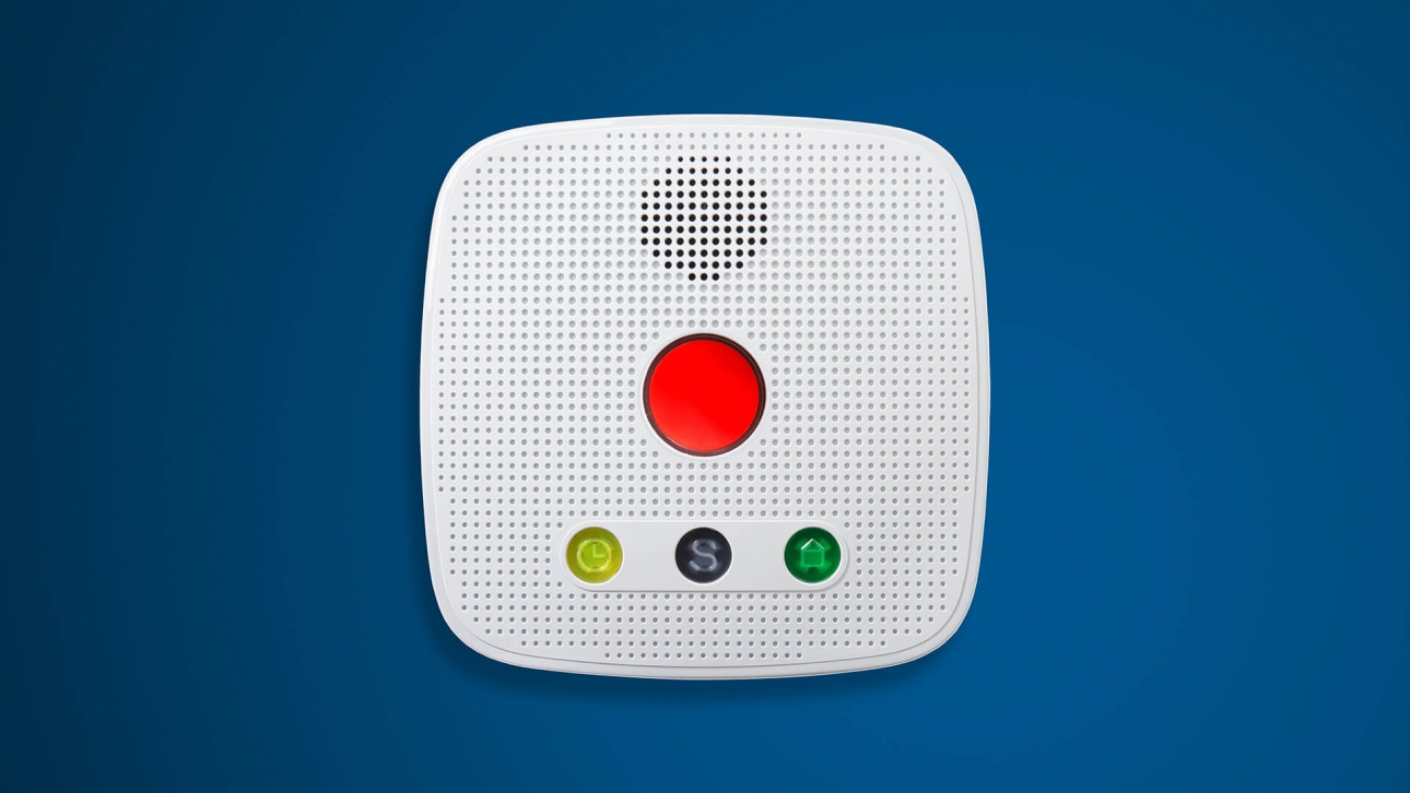 Hausnotrufgerät: Kampagnenidee roter Knopf