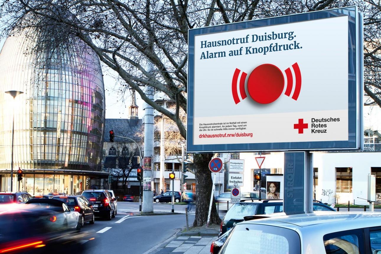 Regionalisiertes Großflächenplakat der Multi-Channel-Kampagne