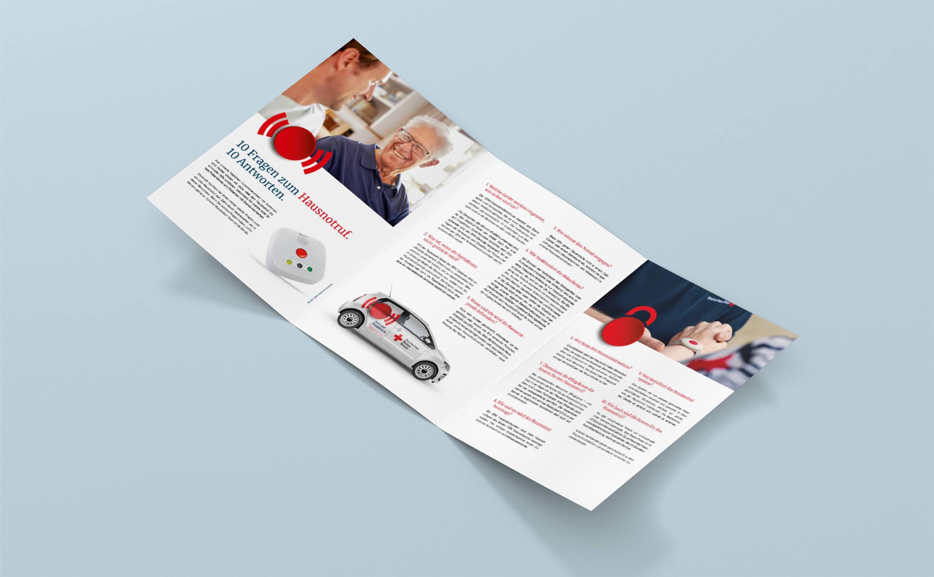 Innenseiten Broschüre für Ärztinnen und Ärzte mit Informationen zum Hausnotruf