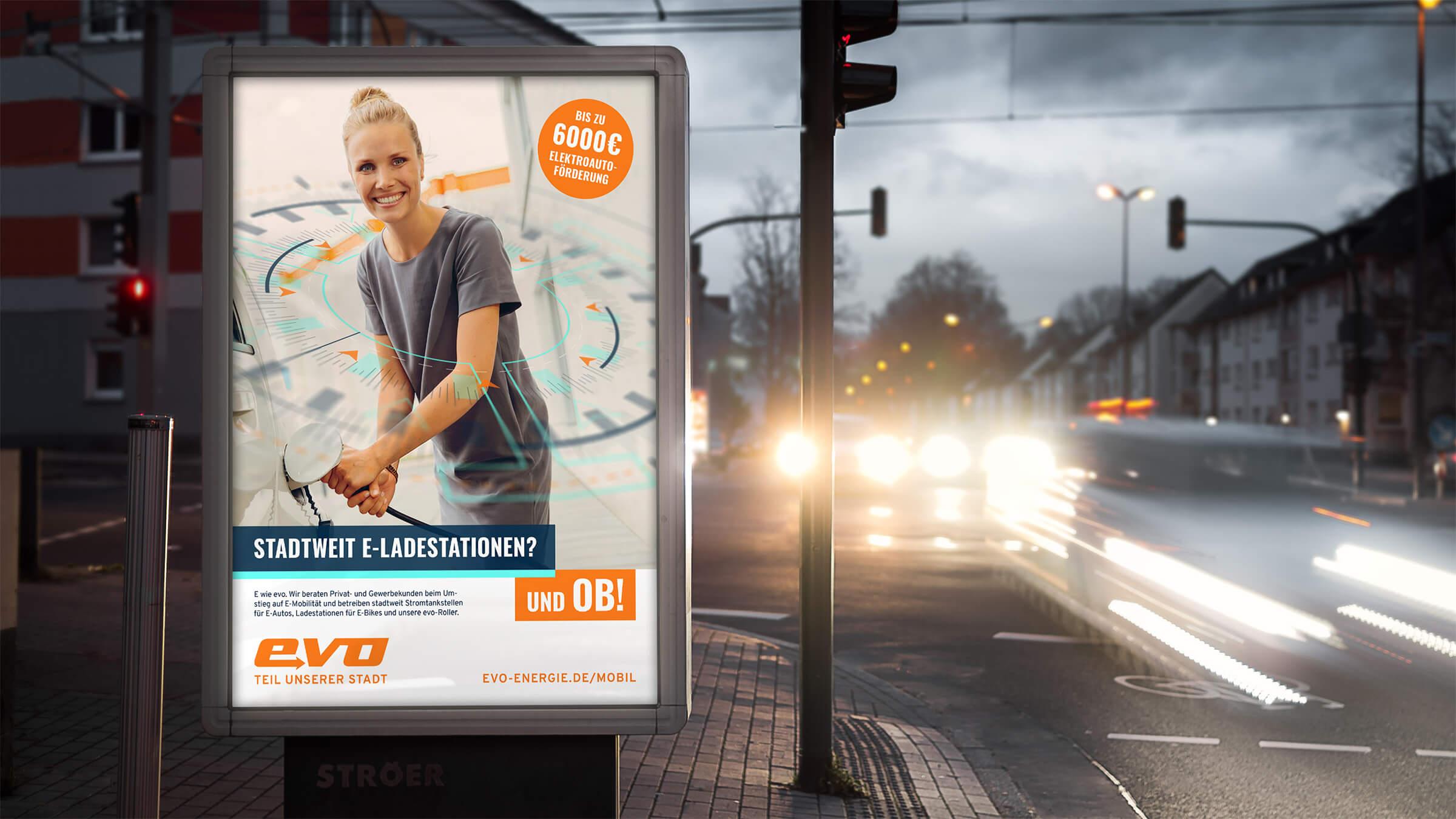 Citylight Motiv der Image-Kampagne