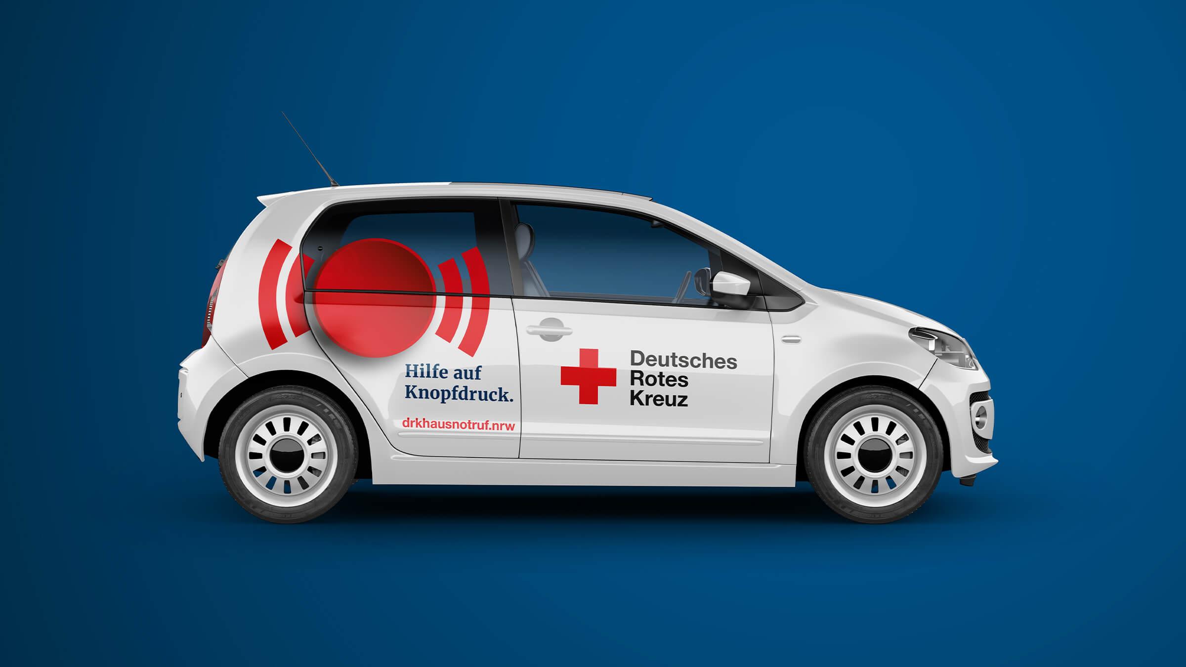 Autobeschriftung für Einsatzfahrzeug Deutsches Rotes Kreuz
