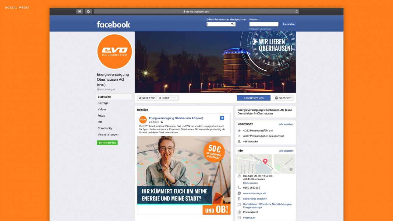 Facebook Postings Social Media Kampagne