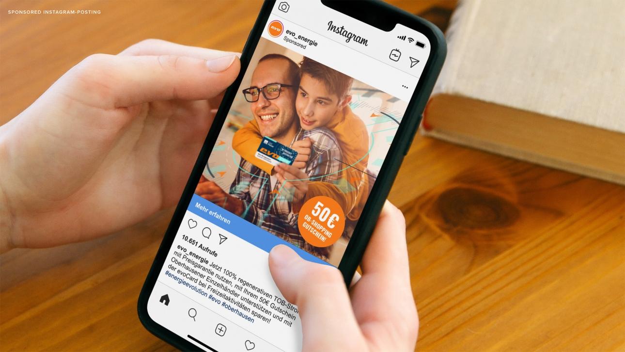 Sponsored Postings Instagram Social Media Kampagne