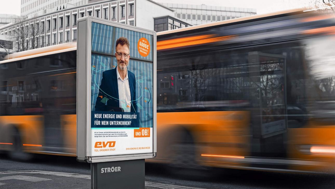 Plakatmotiv Citylight der Imagekampagne für Firmenkunden