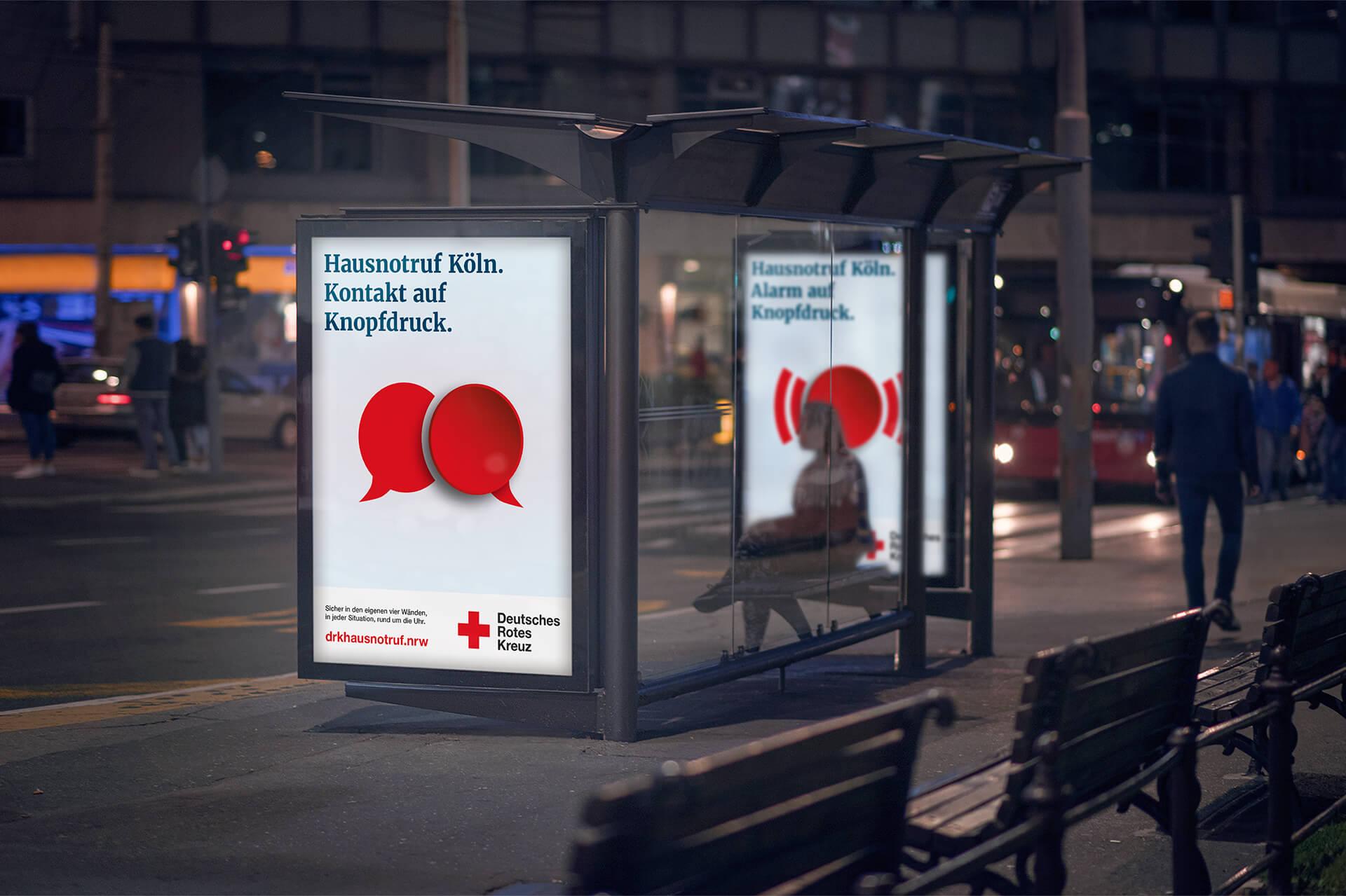 Citylightplakate für Imagekampagne Hausnotruf