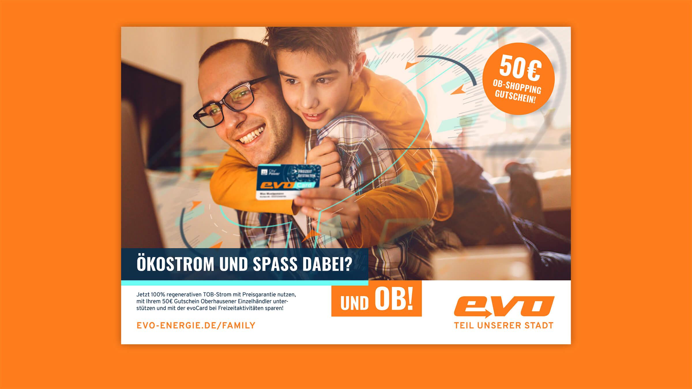Plakatmotiv der Imagekampagne für Energie-Privatkunden