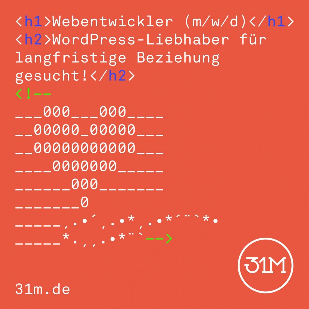 Webentwickler und Webdesigner (m/w/d) gesucht!