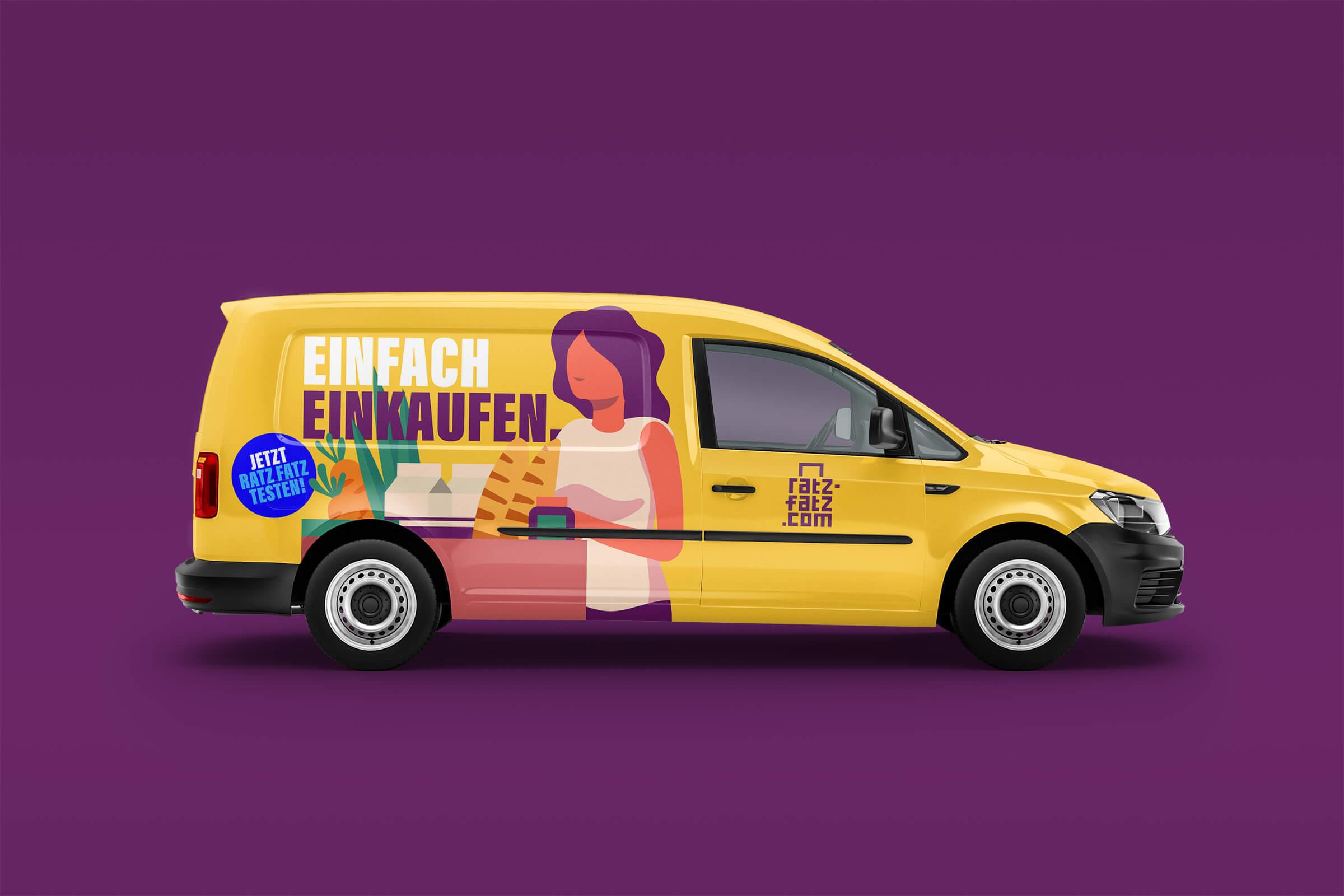 Branding und Fahrzeugbeschriftung für Essener Start-Up Ratz-Fatz.com