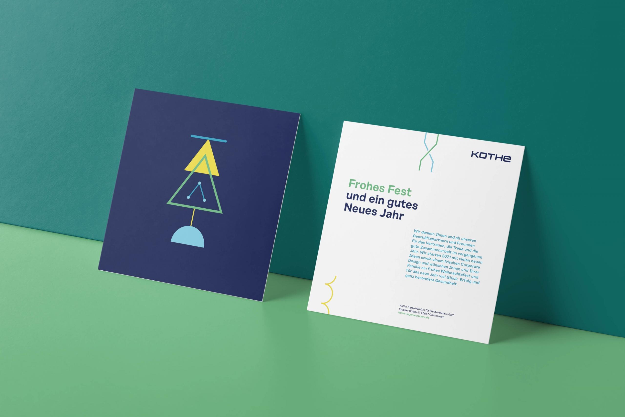 Weihnachtskarte im neuen Corporate Design