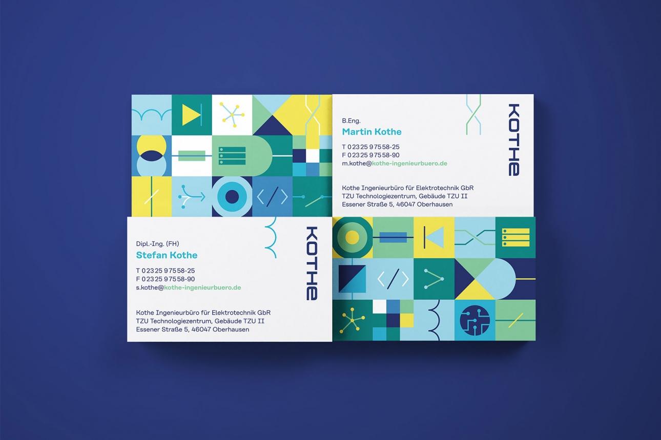 Visitenkarten für Ingenieurbüro im neuen Corporate Design