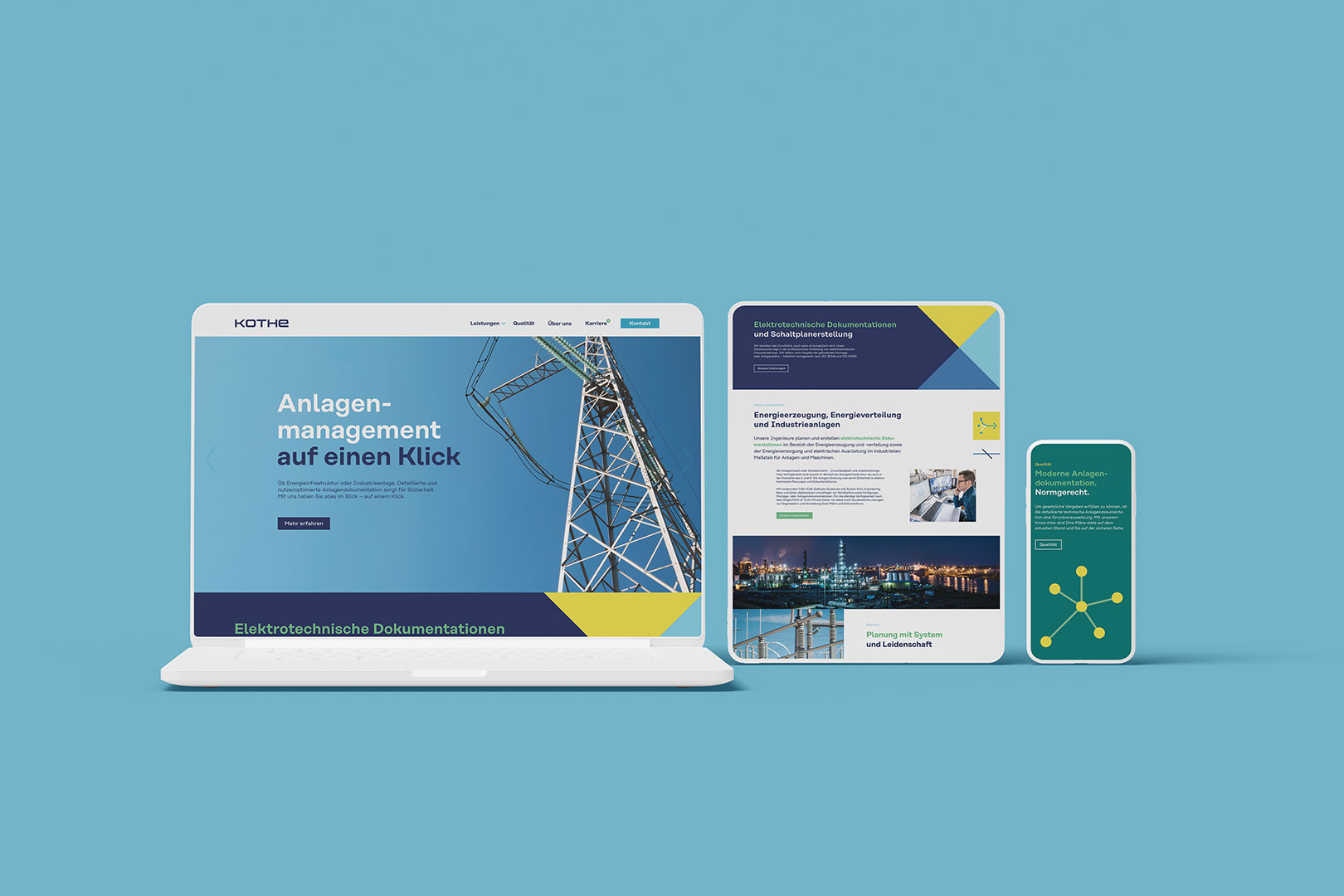 Responsive Corporate Website im neuen Design