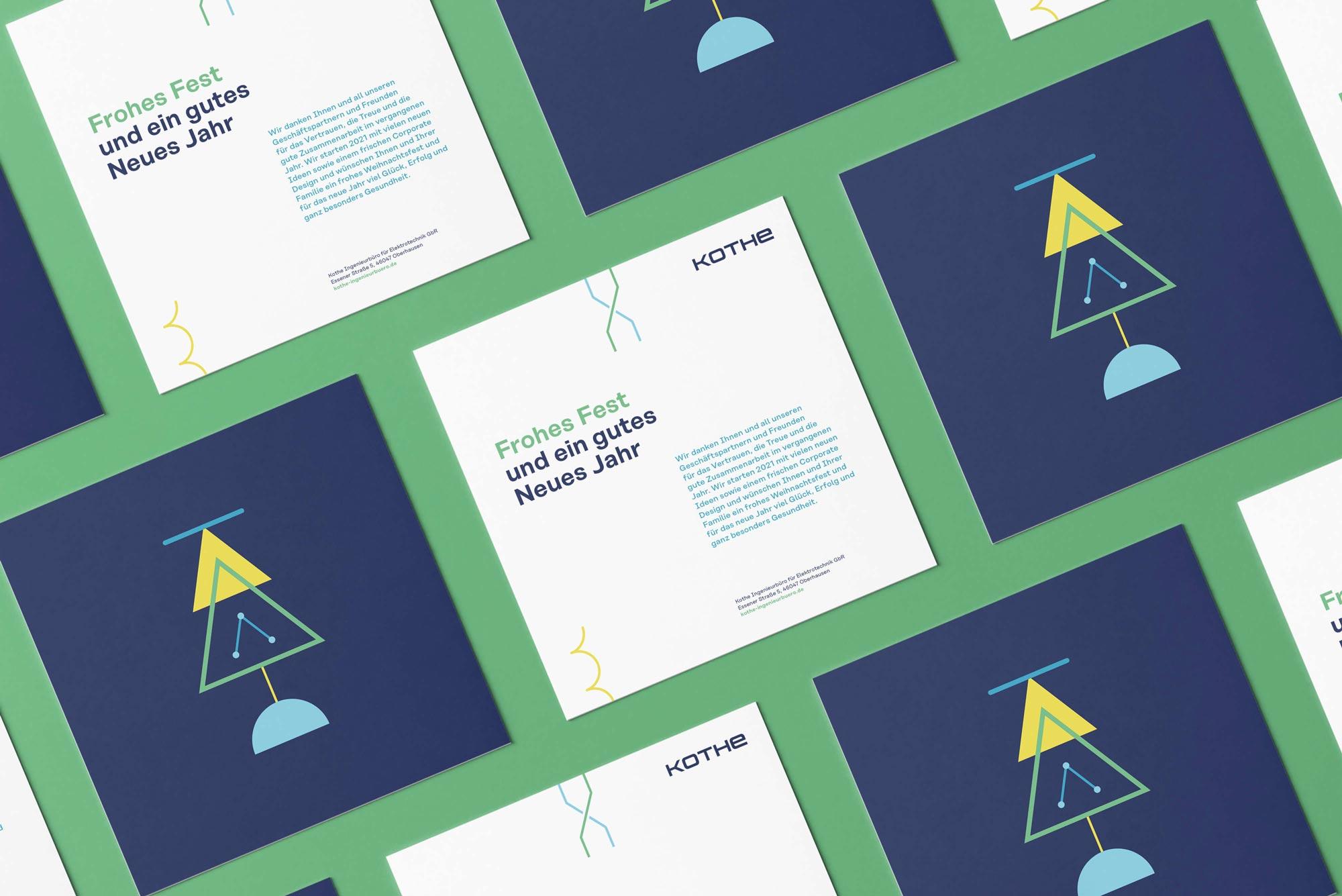 Ansicht Weihnachtskarte im neuen Corporate Design