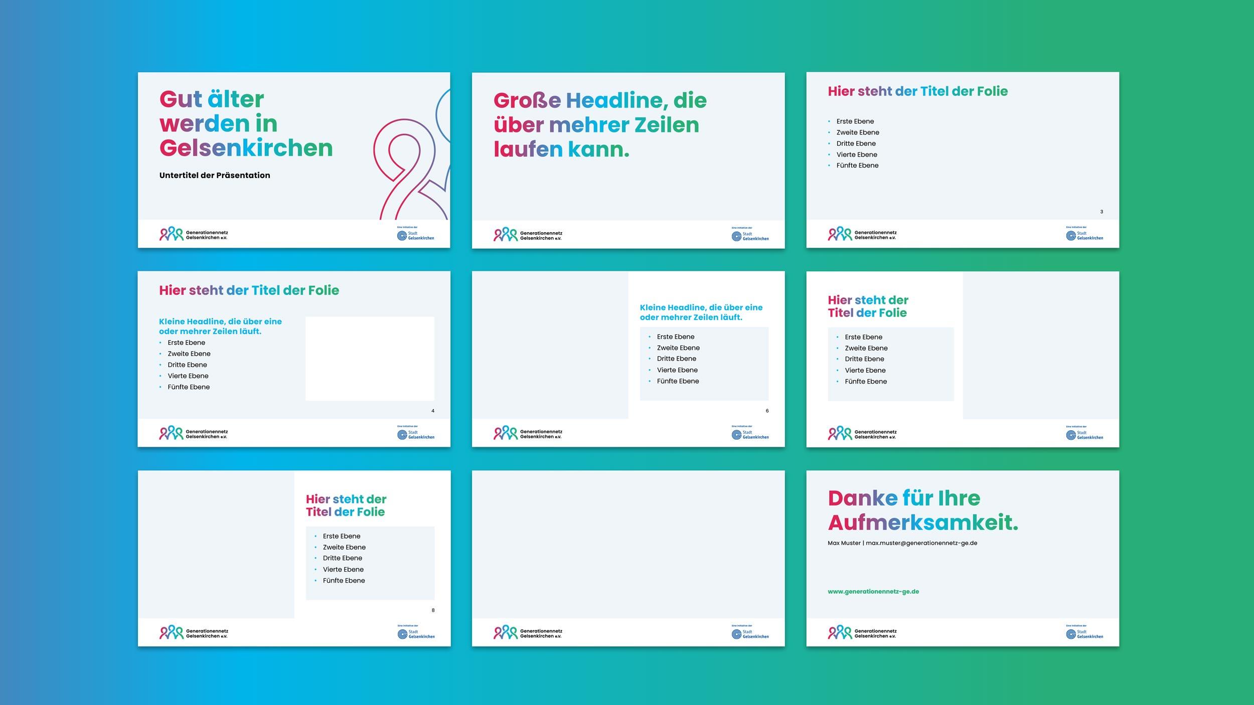 PPTX Vorlage für Powerpointpräsentationen im Corporate Design