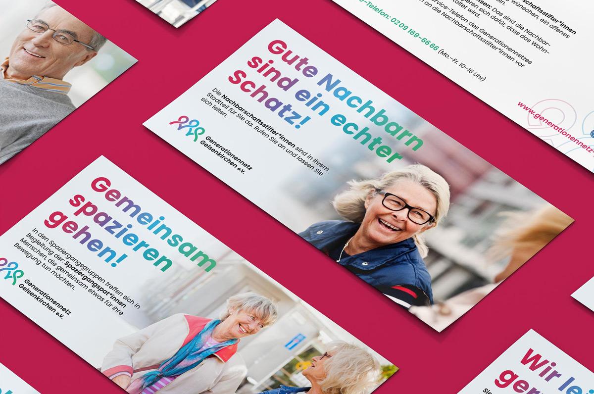 Printmedien: Flyer für Generationennetz Gelsenkirchen Corporate Design