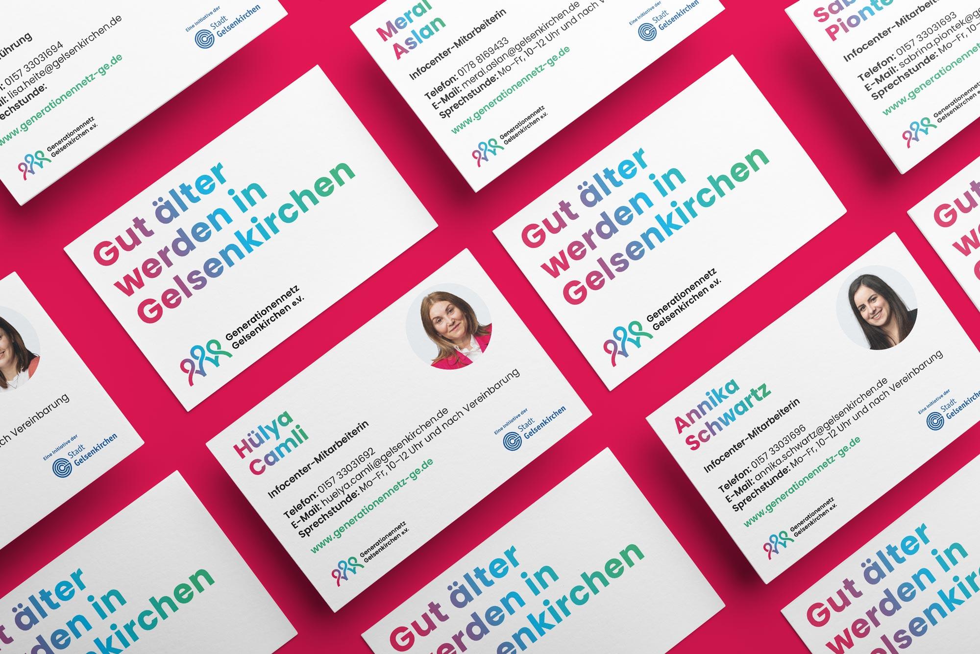 Neue Visitenkarten für das Generationennetz Gelsenkirchen e.V.